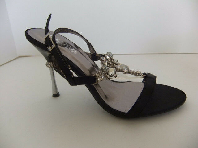 Pleaser Luxe Jewel Jewel Jewel 16 Black Sandal Heels Size 8 Holiday Dressy Formal Sexy d47aa7