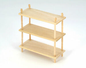 1 12 Scale Plain Wood Small Shelf Unit