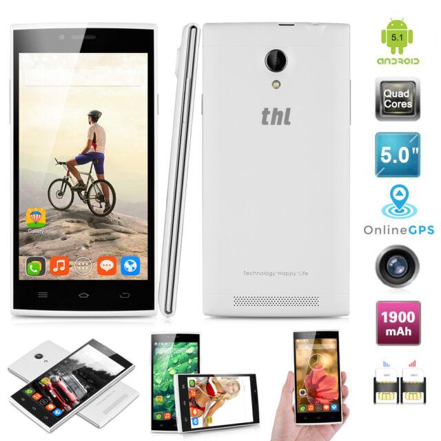 5,0 Zoll THL T6C 8GB Android 6.0 Quad Core Dual Sim 3G Smartphone Handy GPS NEU