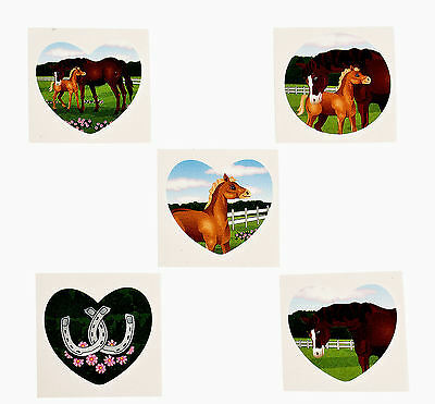 72 Horse TATTOOS Mare & Foal temporary kids Western birthday party ...