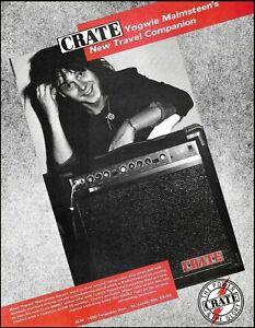 Yngwie Malmsteen Crate G60GT Guitar Amp 1986 advertisement 8 x 11 b/w ad print