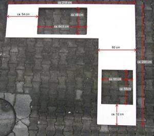 Details zu hochwertige Arbeitsplatte von NOLTE Küche Silberahorn  (neuwertig) L-Form