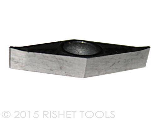 VCGT 221 High Polish turning Inserts for Aluminum 10 PCS RISHET TOOLS VCGX