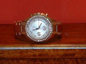 Pre-Owned-Women-s-Fossil-ES-3352-Rhinestone-Analog-Date-Watch