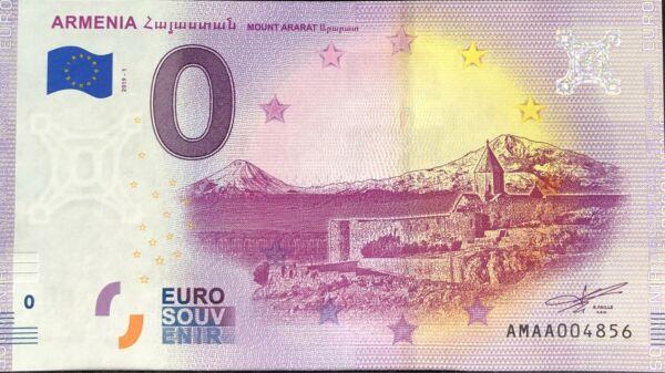 Analytique Billet 0 Euro Armenia Mount Ararat 2019-1 Numero Divers