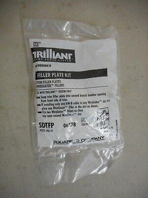 SQUARE D SDTFP FILLER PLATE KIT FOR TRILLIANT BREAKERS