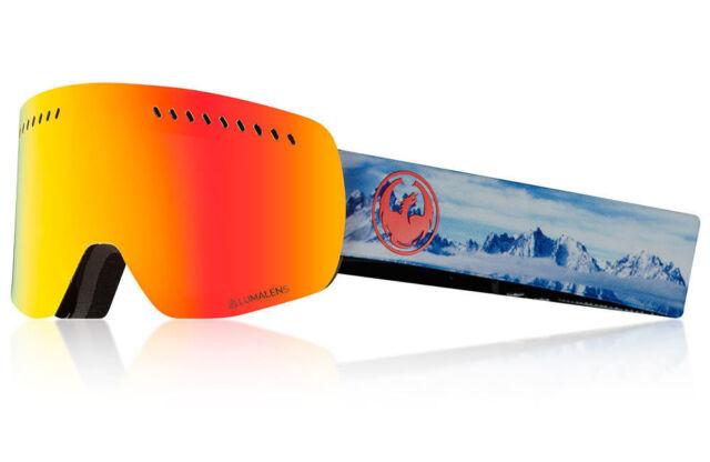 b9cc29c7bc13 NEW Dragon Alliance SN-17041 NFXs Realm Snow Goggles w  LumaLens Red Ion  Finish