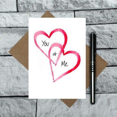 VOUS ET MOI cartes-ROMANTIQUE-carte mignon st valentin carte-St-Valentin carte