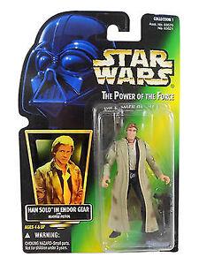 Hasbro Star Wars POTF Han Solo Endor Gear Action Figure loose