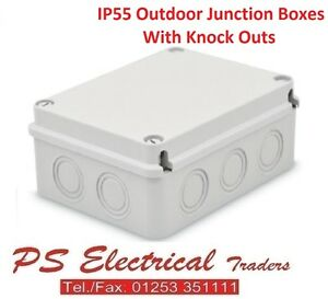 Image is loading OUTDOOR-WATERPROOF-IP55-ENCLOSURES-JUNCTION-BOXES -WITH-KNOCKOUTS-  sc 1 st  eBay & OUTDOOR WATERPROOF IP55 ENCLOSURES JUNCTION BOXES WITH KNOCKOUTS ... Aboutintivar.Com