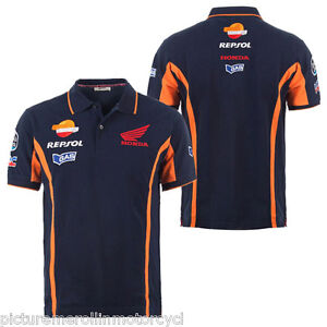 Repsol Honda Hrc Motogp Team Estrella Galicia Polo Shirt Blue Size M L Xl 2xl Ebay