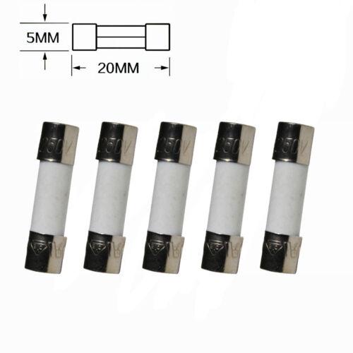 5Pcs 250V 7A F7AL250V 7 amp Fast Blow Acting Quick Ceramic Fuses 5x20mm
