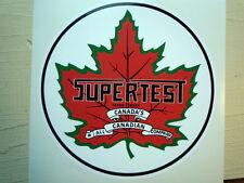 "SUPERTEST Canadese Gas Pompa Benzina adesivo auto 6"" Vintage retrò Custom"