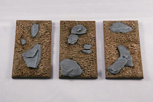 50X100mm-Square-resin-Chariot-base-X1-unpainted-Sci-fi-fantasy-by-Daemonscape