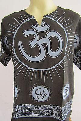 OM Cotton Hudusiam Meditation Men's T Shirt Black  L XL 2XL OT04