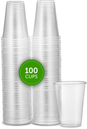 100 Unidades Vasos Desechables De Plastico Transparente De 7 Oz