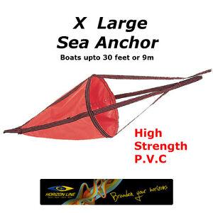 XLarge Sea Anchor Drogue Drift chute Drfiting Brake 135cm kayaks boat 9m 30ft XL
