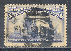 US-Stamp-L2461-Scott-233-Used-HR-Nice-Vintage-Commemorative