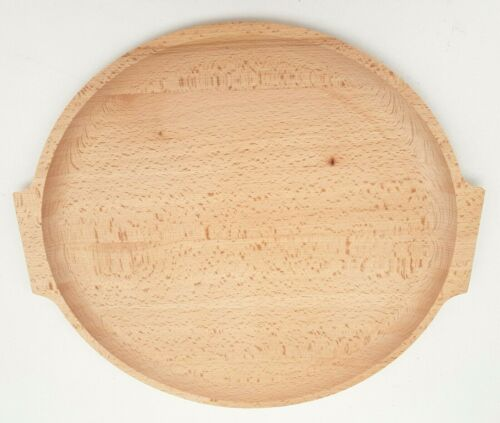"""Wooden serving tray 15 /"""" wide medieval serving plate   beech wood tray"""