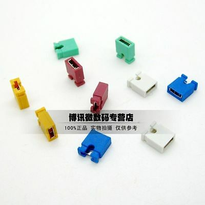 2.54mm Pitch Short-Connect Cap Jumper Red/Yellow/Blue/Green/White/Black
