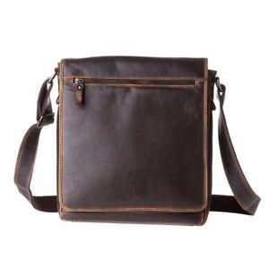 d57f72aea7 Grand sac pour homme à bandoulière en cuir véritable porté épaule ...
