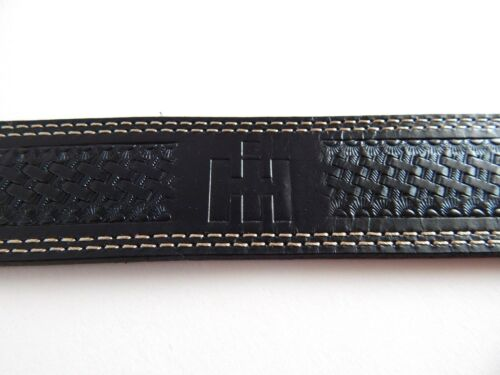 36 International Harvester IH Mens Black Leather Belt 42 40 44 38 Size:34