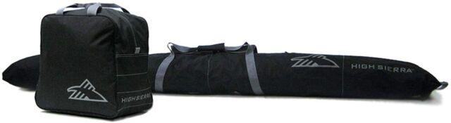 High Sierra Ski Bag & Ski Boot Bag Combo Bundle Black / Black 53875-1050