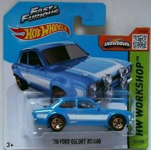 Hot-Wheels-039-70-FORD-ESCORT-RS1600-Fast-amp-Furious-A-todo-gas-PAUL-WALKER-TV