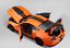 Maisto-1-18-2020-Ford-Mustang-Shelby-GT500-Diecast-Modelo-Coche-de-Carreras-Naranja-En-Caja miniatura 2