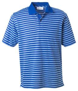 Ashworth-Men-039-s-Moisture-Short-Sleeve-Dual-Tone-Stripes-Pique-Polo-T-Shirt-2048
