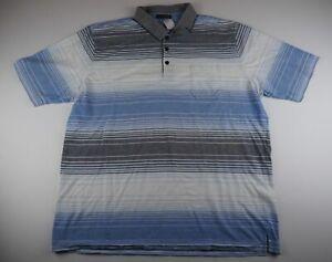 Pierre-Cardin-Herren-Poloshirt-Gr-3XL-weiss-gestreift-S685