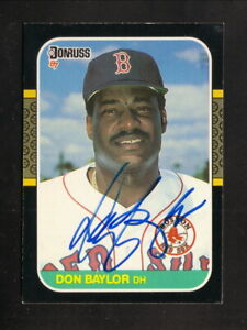Details About Don Baylor 1949 2017 Autograph Boston Red Sox 1987 Donruss Baseball Card