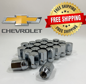 !!!24 x 14MMX1.5 OEM//FACTORY STYLE CHROME LUG NUTS FITS CHEVY FREE SHIPPING!!!