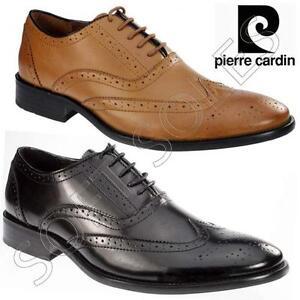 Detalles de Para Hombre Pierre Cardin Zapatos De Cuero Italiano formal Oficina zapato bajo de cuero Smart Boda Zapato ver título original