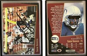 Eugene Robinson Signed 1993 Select #160 Card Seattle Seahawks Auto Autograph