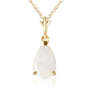 Genuine-Opal-Pear-Cut-Gemstone-Solitaire-Pendant-Necklace-set-in-14K-Solid-Gold