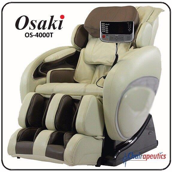 Osaki Os 4000t Zero Gravity Massage Chair Recliner   Cream 3 Years For Sale  Online   EBay
