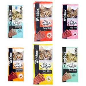 Webbox Cats Delight Tasty Sticks Cat Kitten Meat Fish