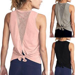 e4fe2eeb75e Image is loading Women-Daily-Yoga-Vest-Workout-Mesh-Shirts-Activewear-