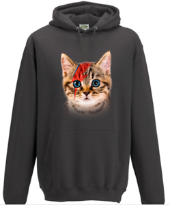 29ed6719e32 Image is loading David-Bowie-Ziggy-Cat-Hoodie-Gift-Music-Lover-