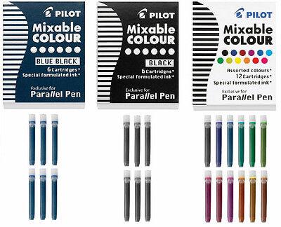 PILOT PARALLEL PEN REFILL INK CARTRIDGES Calligraphy CHOOSE Colors Black or Blue