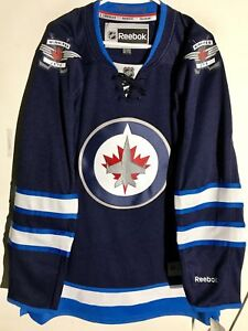 Image is loading Reebok-Premier-NHL-Jersey-Winnipeg-Jets-Team-Navy- ec0b50c4b9f