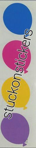 Mrs Grossman/'s BALLOON Stickers big blue yellow pink purple party celebrate