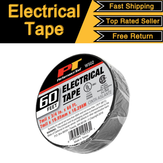 "10 Rolls Of Red 3//4/"" X 60 FT Electrical Tape"