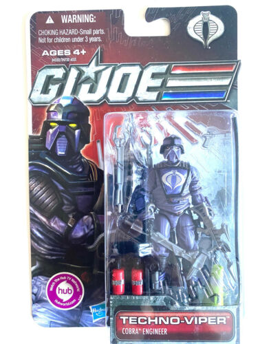 GI Joe 30th Cobra Techno Viper Figure Neuf Scellé on Retail Blister Carte