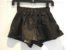 Rag & Bone Black Leather Pajama Shorts Elastic Waist Pockets New NWT XS