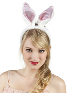 image is loading fancy dress bunny ears headband white and pink