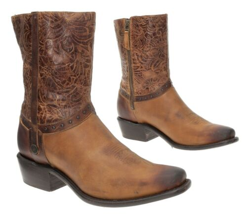 SONORA Cowboy Boots 10 B Womens TOOLED LEATHER Dis