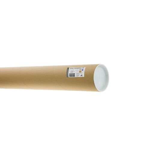 Solid Oak Wall Handrail Kit Fusion 2.4m Polished Chrome Brackets /& End Caps