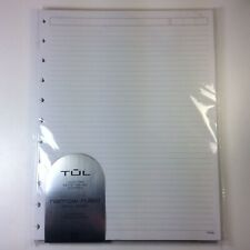 Tul Discbound Narrow Ruled Paper 50 Refill Pages Letter 85x11 Notebook Planner
